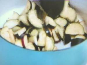 しょうがレモン氷のナッツごはんと皮ごとなすカレー