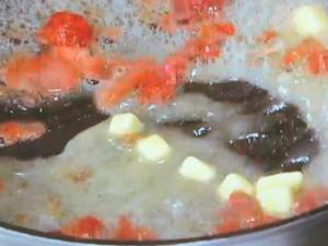 豚肉のソテー 梅バターソース