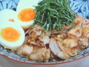 豚こまとゆで卵のさっと煮