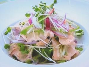 もこみち流 鶏むね肉と水菜のサラダ