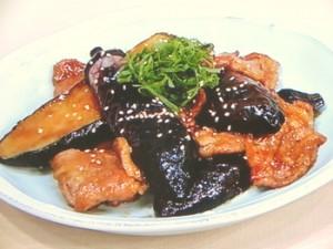 ナスと豚肉の照り焼き