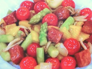 野菜の蒸し煮 甘酢味