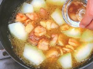 冬瓜と鶏肉の旨煮カレー風味