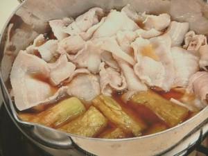 豚肉と焼きナスの煮びたし