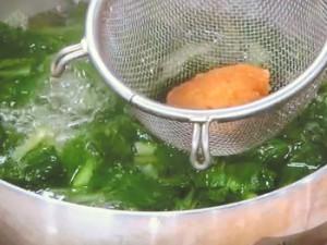 小松菜のすり流し汁