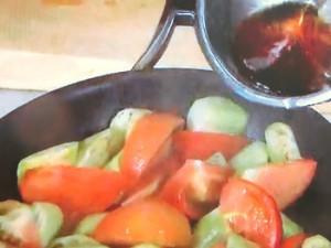 なすの冷製トマト煮