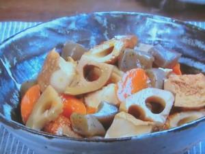 厚揚げ、ちくわ、根菜の煮もの