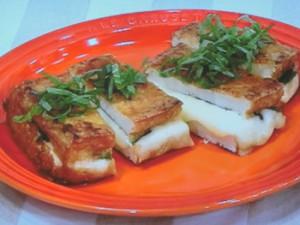 厚揚げの大葉チーズサンド照り焼き