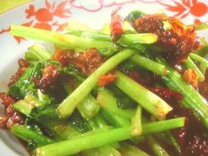 小松菜と牛肉の中国風炒め