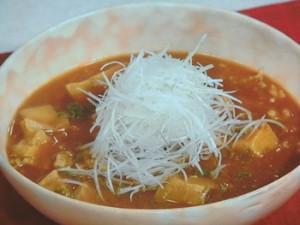 高野豆腐の和風マーボー