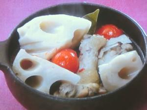れんこんと鶏肉のスープ煮