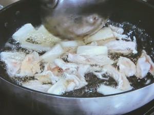 白菜と鶏むね炒め