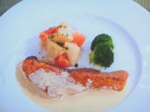 鮭のムニエル カレー風味