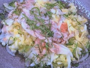 豚肉の梅しょうゆ漬けdeキャベツの重ね蒸し
