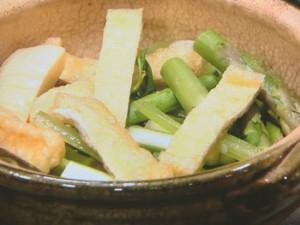 アスパラ牛鍋