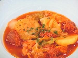 コンビーフと野菜のトマトジュース煮