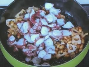 たこと大豆の混ぜご飯