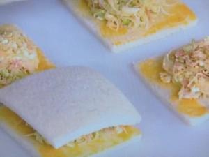 キャベツと卵の焼きサンド
