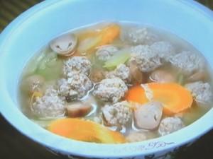 もこみち流 豚だんごの中華スープ