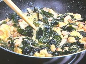 大豆とわかめのスペイン風オムレツ