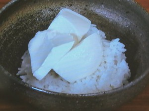 さんしょう風味の豆腐丼