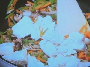ひき肉入りぎせい豆腐