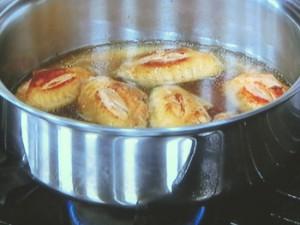 鶏手羽とみょうがの酢煮