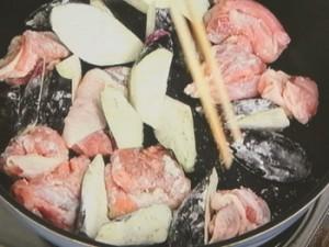 なすと鶏もも肉で酸っぱ煮♪