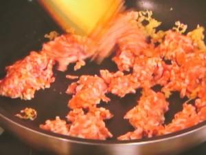 肉みそ和え麺