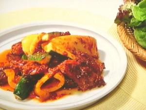 夏野菜と豚の焼きカルビ風