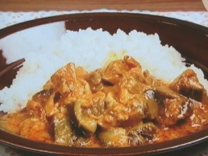 鶏肉となすのカレーヨーグルト煮