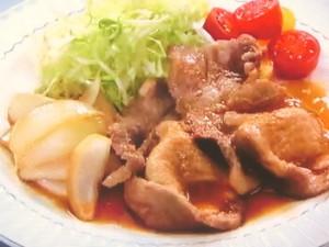 豚肉と玉ねぎのさっぱり生姜焼き