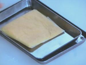 マンゴー入りカスタード餅