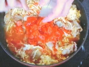 豚肉と切り干しのトマト煮