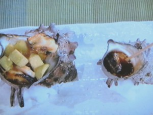 サザエのつぼ焼き&なす味噌サザエのつぼ焼き