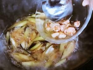 ナスと鶏の梅風味