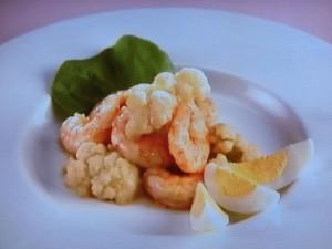 海老とカリフラワーの温サラダ
