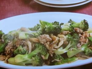 ブロッコリーと豚ひき肉の甘辛炒め