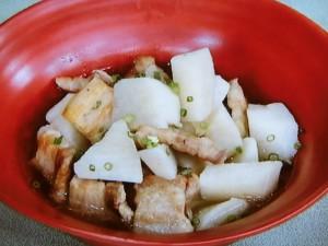 長芋と豚バラの炒め煮