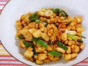鶏と大豆の辛み炒め