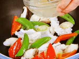 イカと野菜のあっさり炒め
