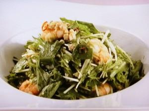 水菜とえごまのサラダ