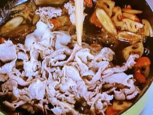 豚肉と根菜の時雨煮