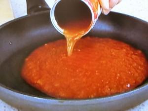 タラとパプリカのトマトパッツァ