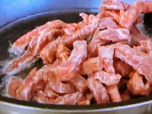 もこみち流 牛肉と厚揚げの細切り辛炒め