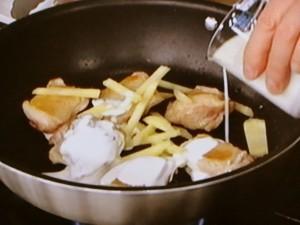 チキンのしょうがみそクリーム煮