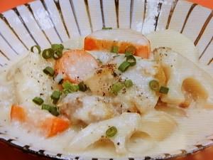 鶏と根菜の和風クリーム煮