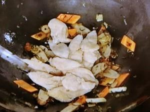 鶏と高菜の炒めもの