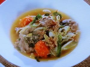 香味野菜と牛肉のスープ