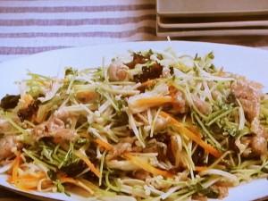豚肉とえのき茸の五色炒め
